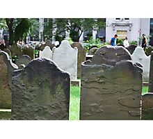 Old Gravestones Photographic Print