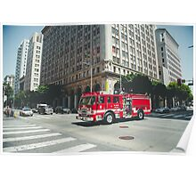 Los Angeles Fire truck Poster