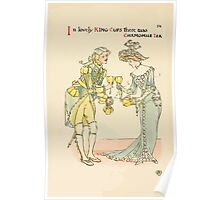 A flower wedding - Described by Two Wallflowers by Walter Crane 1905 50 - In lovely King Cups there was Chamomile Tea Poster