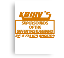 Super Sounds of the 70's Weekend (Orange) Canvas Print
