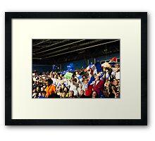 Political meeting - Crowd Framed Print