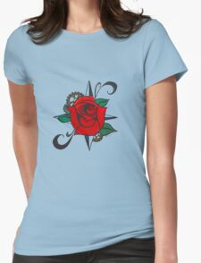 Steampunk Rose Womens Fitted T-Shirt