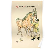 A flower wedding - Described by Two Wallflowers by Walter Crane 1905 54 - A pair of Horse Chestnuts Poster