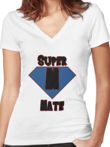Super Nate! Women's Fitted V-Neck T-Shirt