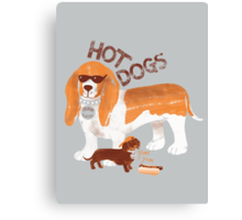 Hot dogs t Canvas Print