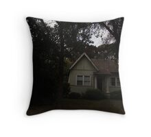 the house on the hill, that no one wants to enter Throw Pillow