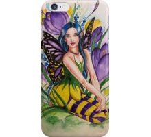 Crocus spring fairy iPhone Case/Skin