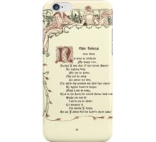 The Old Garden and Other Verses by Margaret Deland and Wade Campbell, Illustrated by Walter Crane 1894 164 - Two Lovers iPhone Case/Skin