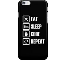 Eat Sleep Code Repeat - Tshirts & Hoodies iPhone Case/Skin
