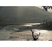 afternoon light on the bridge Photographic Print