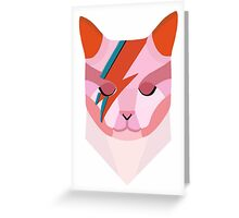 David Bowie Cat Greeting Card