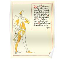 A Masque of Days - From the Last Essays of Elia 1901 illustrated by Walter Crane 20 - April Fool's Day Poster