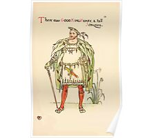 A flower wedding - Described by Two Wallflowers by Walter Crane 1905 27 - The was Good King Herny and tall Jonquil Poster