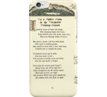 The Old Garden and Other Verses by Margaret Deland and Wade Campbell, Illustrated by Walter Crane 1894 205 - On a Child's Grave in the Dorchester Burying Ground iPhone Case/Skin