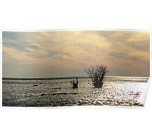 Wadden Sea Sunset Poster