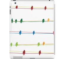 Birds on wire iPad Case/Skin