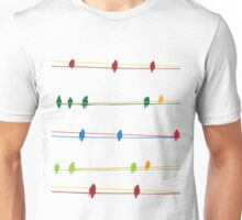 Birds on wire Unisex T-Shirt
