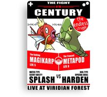 Magikarp vs Metapod Canvas Print