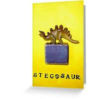 Stegosaur Special Greeting Card