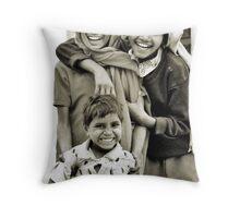 Children from Pushkar Throw Pillow