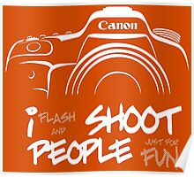 Shoot People for Fun Cartoonist Version (v2) - inverted Poster