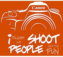 Shoot People for Fun Cartoonist Version (v2) - inverted Photographic Print