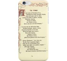 The Old Garden and Other Verses by Margaret Deland and Wade Campbell, Illustrated by Walter Crane 1894 256 - The Waits iPhone Case/Skin