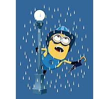 Minion in the rain Photographic Print