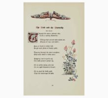 The Old Garden and Other Verses by Margaret Deland and Wade Campbell, Illustrated by Walter Crane 1894 225 - The Bird and the Butterfly Kids Tee