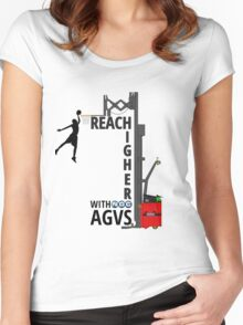 Reach Higher with NDC AGVs Colour Women's Fitted Scoop T-Shirt