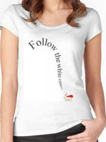 Follow the White Rabbit Women's Fitted Scoop T-Shirt