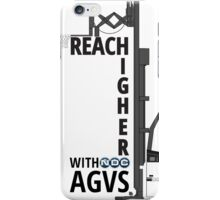 Reach Higher with NDC AGVs BW iPhone Case/Skin