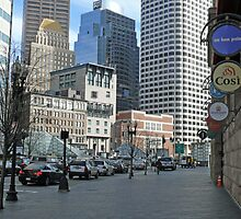 Atlantic Ave. and Summer Streets at South Station, April in Boston Series 2009 by Jack McCabe