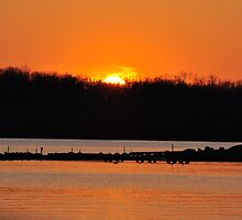 Sunset Over Prairie Creek Lake 4/15/09 by mltrue