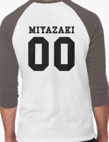 Miyazaki PYREX (black text) Men's Baseball ¾ T-Shirt