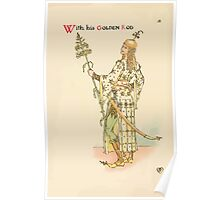 A flower wedding - Described by Two Wallflowers by Walter Crane 1905 38 - With Golden Rod Poster