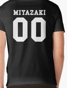 Miyazaki PYREX (white text) Mens V-Neck T-Shirt
