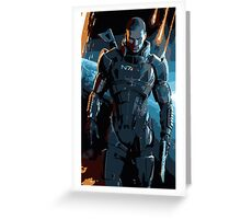Commander Shepard Mass Effect 3 Greeting Card