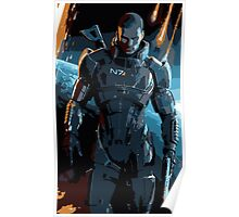 Commander Shepard Mass Effect 3 Poster