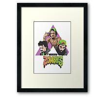 flat bush zombies triangle Framed Print