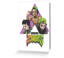flat bush zombies triangle Greeting Card