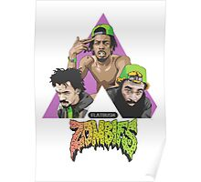 flat bush zombies triangle Poster