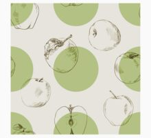 seamless pattern made of scattered decorative apples Kids Clothes