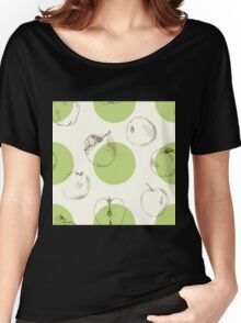 seamless pattern made of scattered decorative apples Women's Relaxed Fit T-Shirt