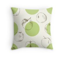 seamless pattern made of scattered decorative apples Throw Pillow