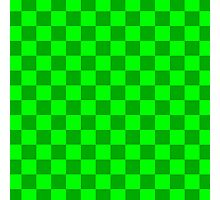 Checker Pattern Green Photographic Print
