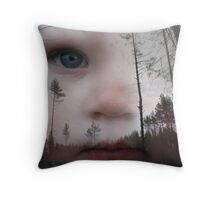 WoodMan3 Throw Pillow
