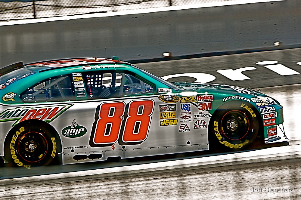 Dale Earnhardt, Jr. 2009 Samsung 500 by Jeff Blanchard