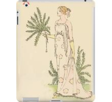 A flower wedding - Described by Two Wallflowers by Walter Crane 1905 34 - And Rose Mary iPad Case/Skin