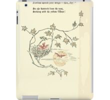 The Old Garden and Other Verses by Margaret Deland and Wade Campbell, Illustrated by Walter Crane 1894 229 - Look Straight Up Into the Sky iPad Case/Skin